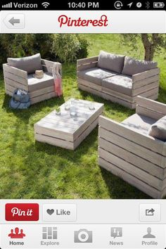 Pallet patio furniture can't WAIT for mine to get done! :) Pallet patio furniture can't WAIT for mine to get done! The post Pallet patio furniture can't WAIT for mine to get done! :) appeared first on Pallet Diy.