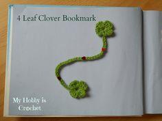 4 leaf clover bookmark free pattern
