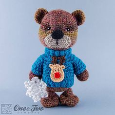 Teddy Sweet Hugs crochet pattern by One and Two Company