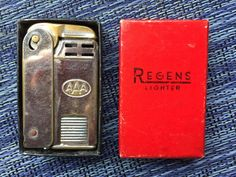 Vintage AAA Regens Lighter in original box with by AuntDotsPlace Travel Brochure, History Photos, Antiquities, Vintage Pictures, Lighter, 1950s, The Originals, Retro, Unique Jewelry