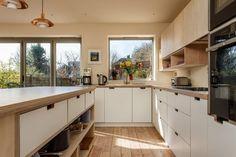 Birch Cabinets, Wooden Kitchen Cabinets, Plywood Kitchen, Kitchen Wood, Kitchen Reno, Kitchen Ideas, Danish Kitchen, Kitchen Room Design, Birch Ply