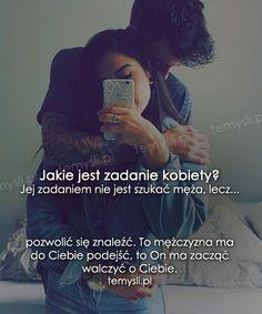 TeMysli.pl - Inspirujące myśli, cytaty, demotywatory, teksty, ekartki, sentencje Let Me Down, Let It Be, True Quotes, Motto, Sentences, Texts, Sad, Romance, Relationship