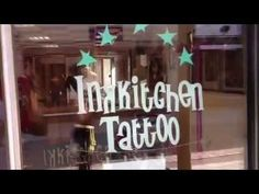 InkKitchen tattoo Hengelo Overijssel reclamestickers op raam / gevel