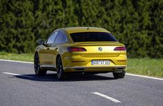 This new fastback-styled mid-class luxury features a completely new front fascia and will sit above the Passat in VW line up.The most luxury sedan by the carmaker will likely to replace the ageing … Sport Cars, Race Cars, Volkswagen, Yellow Car, Expensive Cars, Car Photos, Car Garage, Exotic Cars, Vehicles