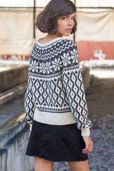 - Koftor/tröjor ok & raglan mönsterstickade Fair Isle Knitting, Baby Knitting, Fair Isle Pullover, Fair Isle Pattern, Sweater Outfits, Pulls, Unique Fashion, Knitwear, Knitting Patterns