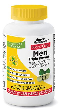 Super Nutrition Simply One™ Men Triple Power! Multivitamin