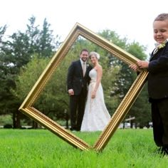 "Love this idea for our ""first family photo"" at the wedding. The kids on each side of the frame."