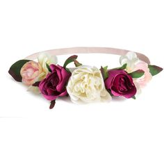 Hairband with Flowers $9.99 (165 CNY) ❤ liked on Polyvore featuring accessories, hair accessories, headband hair accessories, embellished headbands, elastic headbands, h&m hair accessories and flower headbands