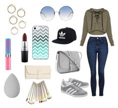 """Untitled #8"" by ele-duperray on Polyvore featuring Topshop, adidas Originals, Gap, adidas, Linda Farrow, MAC Cosmetics and beautyblender"