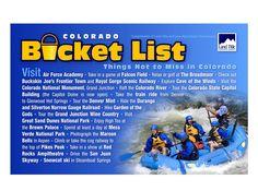 Colorado Travel Bucket List #bucketlist - Things not to miss in CO