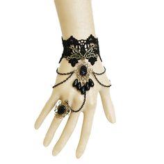 rococo Vintage Slave Bracelet ring handmade lace bracelet,new arrival Necklaces Retro style Gothic style,wedding gift,choker bracelet.