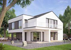 Concept-M München Design V1 - Bien Zenker. Das Eigenheim der Firma Bien Zenker zeichnet sich durch eine moderne und offene Architektur aus. Der Lebensmittelpunkt des Einfamilienhauses Concept-M Münc
