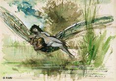 Gustave Moreau - Watercolor