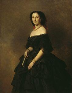Franz Xaver Winterhalter Portrait of Princess Elizaveta Alexandrovna Tchernicheva - Handmade Oil Painting Reproduction on Canvas