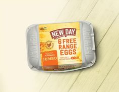 New Day Free Range Eggs on Packaging of the World - Creative Package Design Gallery Egg Packaging, Free Range, Packaging Design Inspiration, New Day, Eggs, Creative Package, Package Design, Gallery, Albums