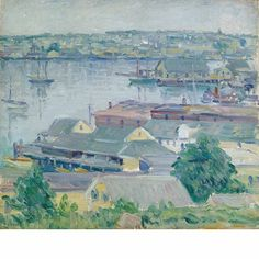 """""""Rockport Harbor, MA,"""" Charles Salis Kaelin, oil on canvas, 16 1/8 x 18 1/8"""", private collection."""