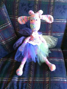 Pinky the giraffe made by my bff Debbie Boggie.. Love it!!!