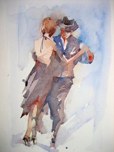 teaching the world to dance for 30 yrs Watercolor Dancer, Watercolor Portraits, Watercolor Paintings, Dance Paintings, Easy Paintings, Dance Photos, Dance Pictures, Figure Painting, Painting & Drawing
