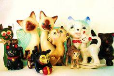 kitsch kitties + 1 by judibird, via Flickr
