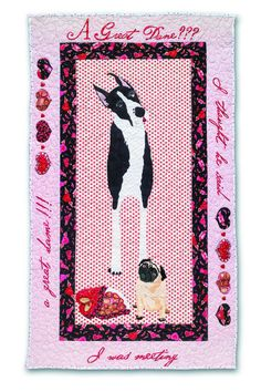 """""""Puppy Love"""" quilt pattern by Tobie and Louie of Mad Dog Designs via Etsy."""