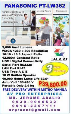 Panasonic PT-LW362 Portable Business, Corporate and Education Projector  #PanasonicPTLW362 @PanasonicPTLW362 #PTLB362 @PTLW362