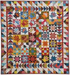 Scrappy Sampler quilt, in:Scrap Quilting with Alex Anderson, featured at See How We Sew