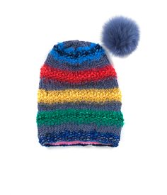 TO CELEBRATE CANADA'S 150TH YEAR in 2017, GŌBLE CREATED THE CANADIANA COLLECTION.   KNIT BEANIE CAP FOR WOMEN IN CANADIANA MARITIMES - SLOUCHY HAT  The GŌBLE women knit beanie cap is a luxurious blend of Wool, Alpaca, Silk and Mohair THIS KNIT BEANIE CAP FEATURES:   Fox Fur Snap-Off Pom Polar Fleece Lining Cozy Construction  One Size HAND KNIT IN CANADA GOBLE.CA