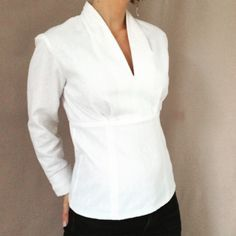 22 💝 Fantastic White Blouse To Look Trendy – Trendy Fashion Ideas Sewing Clothes, Diy Clothes, Diy Vetement, Make Your Own Clothes, Creation Couture, Shirt Refashion, Couture Sewing, Couture Tops, Mode Style