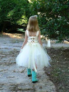 An outdoor farm wedding (Flower Girl)
