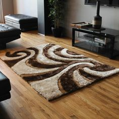 Blazing Needles by Elegant Swirls Shag Rug - Overstock™ Shopping - Great Deals on Blazing Needles - Rugs Living Room White, Rugs In Living Room, Discount Area Rugs, Home Decor Outlet, Online Home Decor Stores, Wool Area Rugs, Floor Rugs, Throw Rugs, Outdoor Rugs