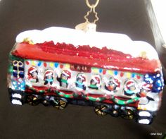 Christopher Radko Christmas B. Train Ornament, Car Ornaments, O Train, Christopher Radko, Birthday Cake, Christmas, Ebay, Yule, Birthday Cakes