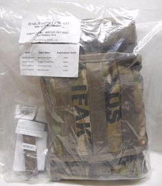 USGI MULTICAM IFAK II COMPLETE KIT, NEW IN BAG, EXP DATES 2017-2022
