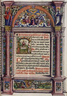 Matthias Gerung - Seite mit Holzschnitt von Matthias Gerung aus dem Missale des Augsburger Bischofs Otto von Waldburg, 1555