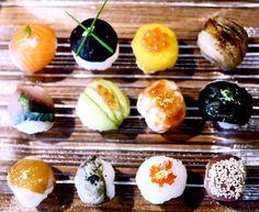 Japanese gastronomy  -Temarizushi (ball-shaped sushi)-    www.iloli-restaurant.com