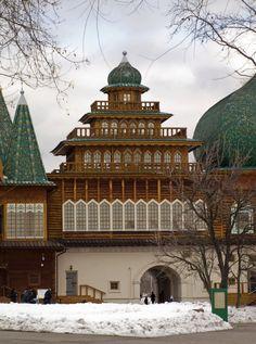 Wooden palace Alexis I in Kolomenskoe.