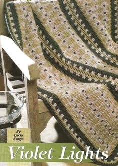 Crochet Crocheting Pattern for a VIOLET LIGHTS AFGHAN Blanket Throw