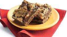 Two favorite cookies--chocolate chip and oatmeal--team up in this sweet and fudgy baked bar.