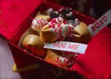 Valentine Chocolate Dipped Fortune Cookies