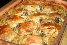 Káposztaágyon sült csirke