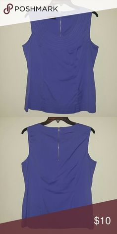 Dressy blue sleeveless blouse Beautiful and like new condition. Periwinkle blue, or a very light purple. Alfani Tops