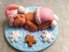 fondant baby santa/christmas/holidays/baby first christmas/christmas baby/fondant baby santa/fondant holly leaves/santa girl/gingerbread man...