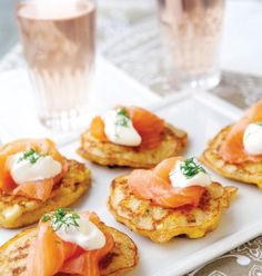 Gluten free recipe for smoked salmon on corn fritters