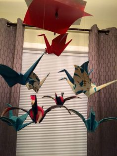 A personal favorite from my Etsy shop https://www.etsy.com/listing/230502361/baby-mobile-origami-crane-mobile-nursery