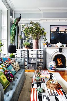 Etc Inspiration Blog Whimsical Bohemian New York City Apartment Via Architectural Digest Fireplace photo Etc-Inspiration-Blog-Whimsical-Bohemian-New-York-City-Apartment-Via-Architectural-Digest-Fireplace.jpg