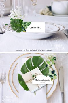 Reception Stationery Wedding Template Tropical Design Table Cards Reception Ideas Inspirations Wedding Theme Palm Banana Leaf Printable Favor Tag Design Place Cards DIY Escort Cards Name Card Tropical Theme Table Place Setting Destination Inspo Card Table Wedding, Wedding Favor Tags, Reception Card, Wedding Place Cards, Reception Ideas, Wedding Menu, Wedding Reception, Rustic Wedding, Printable Place Cards