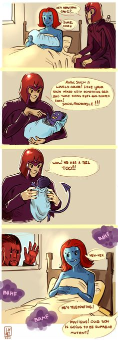 Magneto, the Oblivious Dad by Larbesta on deviantART