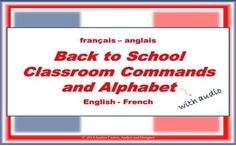 Starting first with the alphabet, this document gives you great tools to help you teach 10 commands per day (total of 60) with text for students to learn and best of all, it comes with the audio, so they know how to pronounce correctly, giving a break, dear teachers, from repeating class after class!  Come and see my TpT store for more details and for a preview of the document.