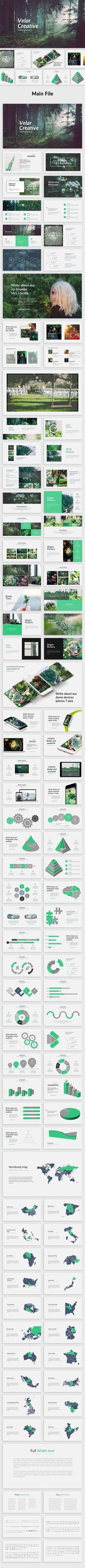 Velar - Creative #Powerpoint Template - #Creative PowerPoint Templates Download here: https://graphicriver.net/item/velar-creative-powerpoint-template/19616813?ref=alena994