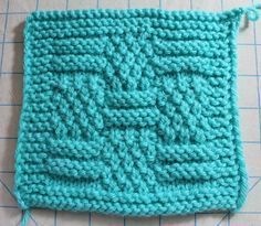Harmony Blanket Knit-a-Long Square - Stitches by Debbie