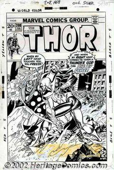 Gil Kane - Original Cover Art for Thor #208 (Marvel,1973)